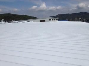 実測データ-JRC様鋼板屋根-ミラクール塗装後写真