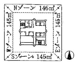 オフィルビルの平面図
