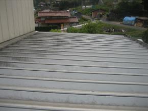 遮熱塗料ミラクール施工のお客様の声 永江製粉様 写真(施工前)
