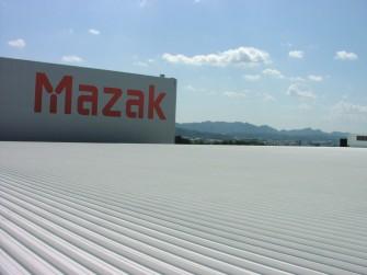 遮熱塗料ミラクール施工写真 岐阜県 工場屋根(アルミ鋼板) ミラクールF200クールホワイト施工