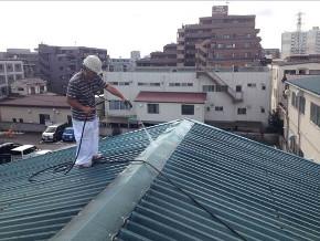 遮熱塗料ミラクール施工のお客様の声 明和ゴム 写真 施工前