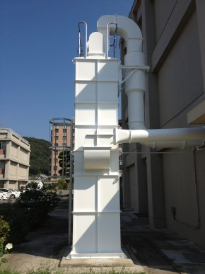 遮熱塗料ミラクール施工のお客様の声 岡山大学 集塵機写真