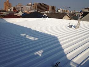 遮熱塗料ミラクール施工のお客様の声 安達様 施工後の写真