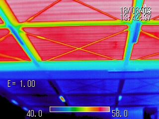 ミラクール塗装屋根 サーモビューア撮影してきました