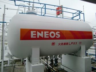 遮熱塗料ミラクール施工写真 設備  ガスタンク S100クールホワイト施工